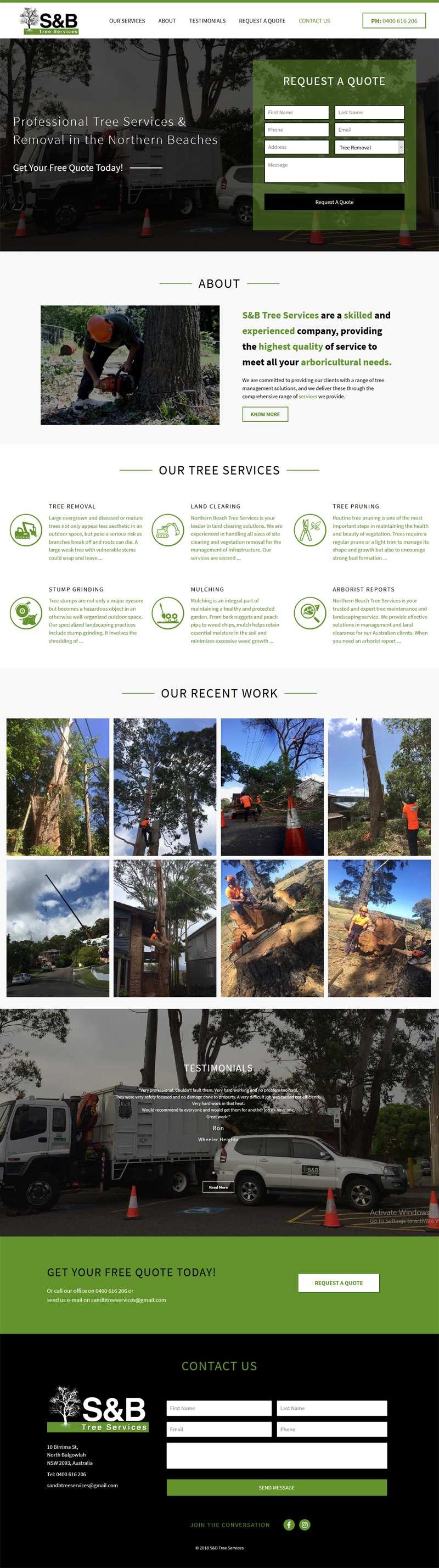 Northern Beaches Tree Services Professional Tree Removal