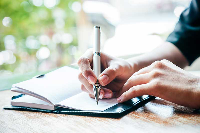 writing journals or memoirs